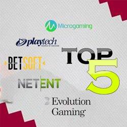 top 5 meilleurs logiciels casino ligne